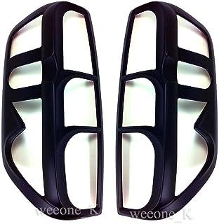 Aftermarket Accessory K1AutoParts Black Matt Rear Tail Light Taillight Lamp Cover Trim for Nissan Navara Frontier D40 2005...