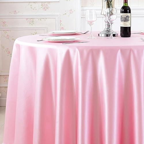 Unbekannt Küchenwäsche Einfarbige Satin-runde Tischdecke - Hotel-Bankett-Restaurant-Rundtischdecke, hochwertige Art-Atmosph , starke Stoff-Beschaffenheit GY67 (Farbe   C, Größe   Round30cm)