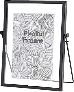 Metal Picture Frames,5x7 inches Photo Frame Decor with Plexiglas Cover High Definition Glass Desk Pictures Display (Black)