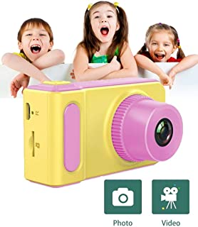 Kids Digital Camera Cute X1 1080P HD Video Action Camcorder with Loop Recording & Digital Photography & 2 inch Screen - Mini Multi-Functional Camera for Kids (Pink)