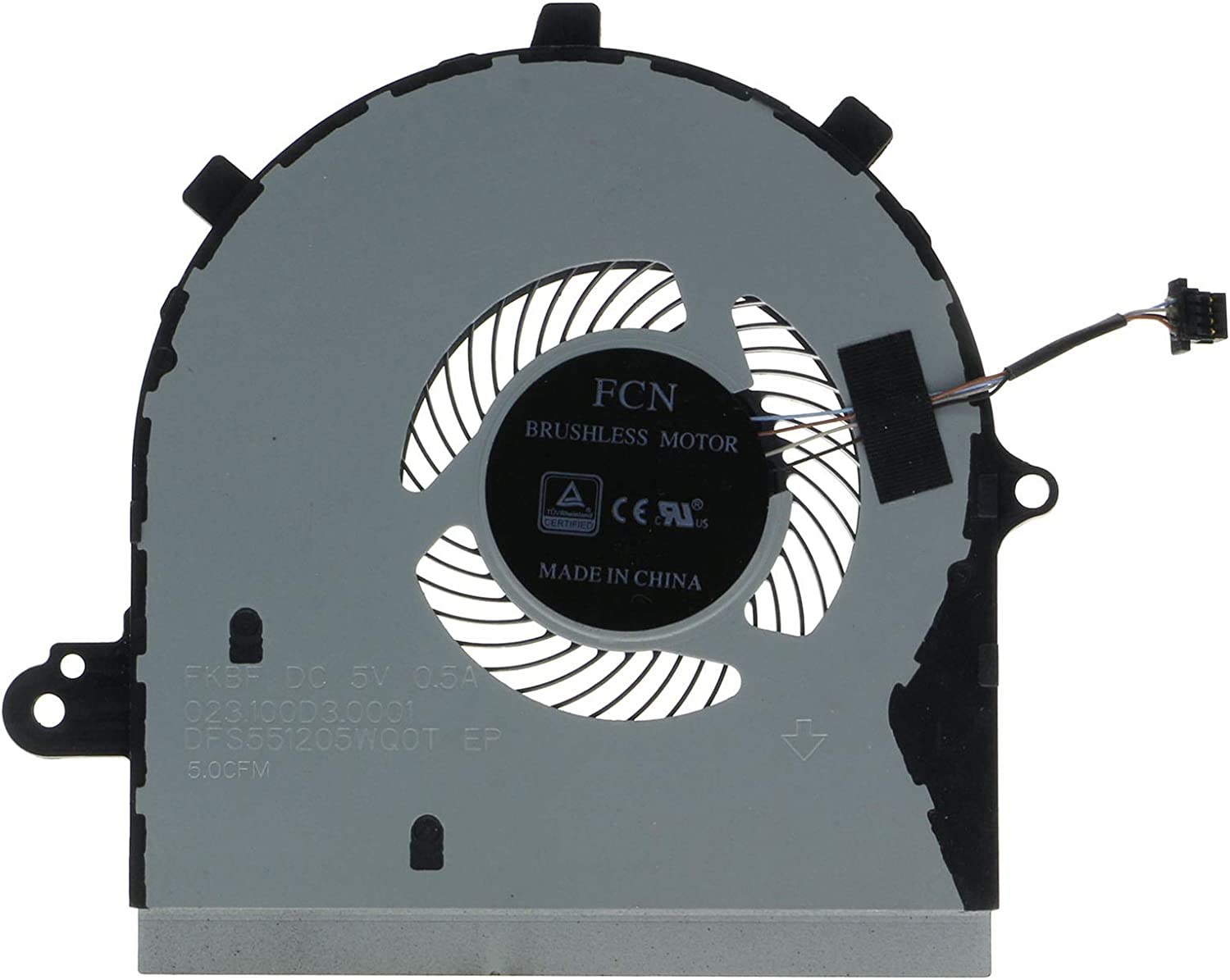 CPU Cooling Fan for Dell Inspiron 15 7586 2-in-1 I7586-5045SLV-PUS 60MGH 060MGH
