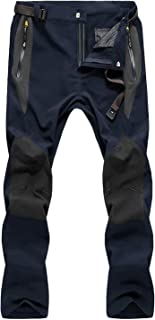 MAGCOMSEN Men's Outdoor Lightweight Hiking Camping Pants Multi Pockets Reinforced Knees Climbing Mountain Pants
