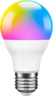 Smart Light Bulb, Compatible with Alexa, Echo, Google Home and Siri, AL Above Lights Dimmable E26 9W Wi-Fi LED Smart Bulb, Soft White (2700K), 60W Equivalent, 810 LM, RGB+W,