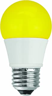 (Case of 4) Click to open expanded view TCP RLA155Y LED A15 - 40 Watt Equivalent (5W) YELLOW Colored Light Bulb (Bug Light)