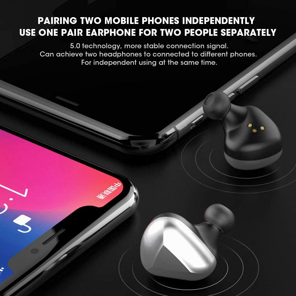 Ginyia Earbuds, Portable Bluetooth5.0 Earphones, Headset, Noise Elimination for Fitness Travel,(black) black