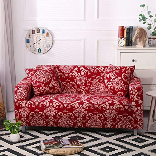 ASCV Funda de sofá elástica Universal para Sala de Estar, Toalla de sofá, Funda de sofá Antideslizante a Prueba de Polvo, Funda de sofá elástica A2 1 Plaza