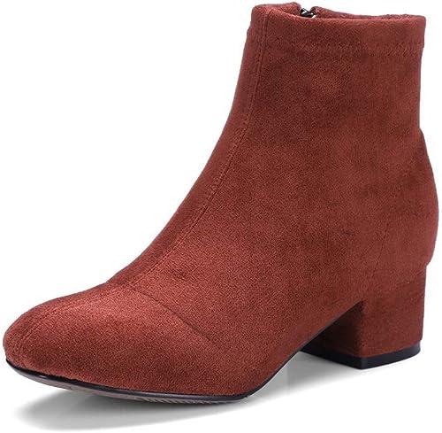 AdeeSu SXC03719, Sandales Compensées Femme - Marron - Rouge Profond foncé, 36.5