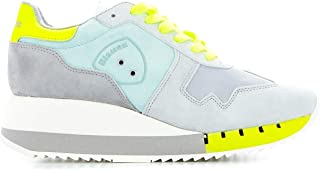 BLAUER Women's BW02YELLOW Multicolor Leather Sneakers