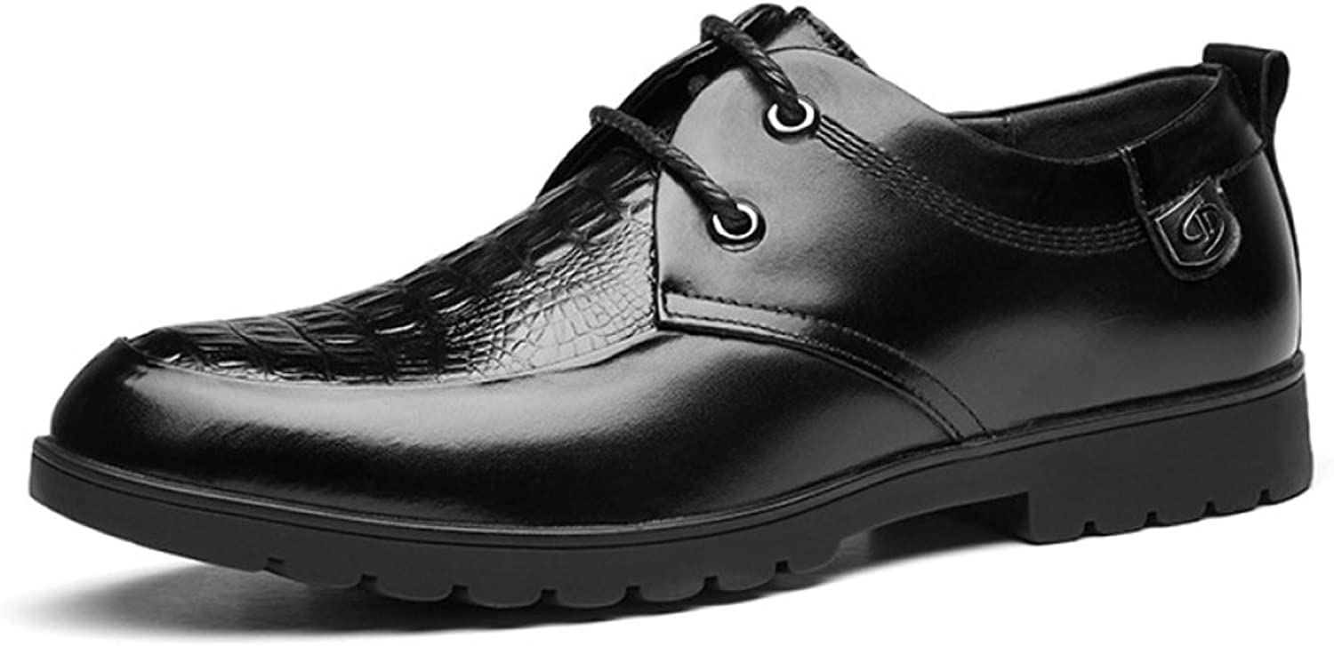 ZHMIAO Leather shoes For Men's Men's Summer Derby Classic Pointed Toe Brogue Non-Slip Vintage Lace-ups Leather Uniform shoes Business Wedding Oxford shoes