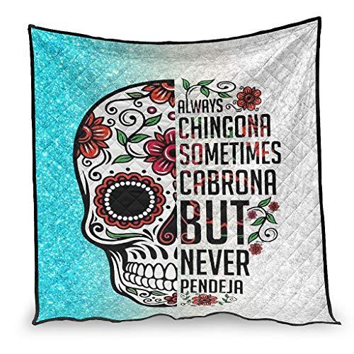 Skull Always Chingona a veces Cabrona - Edredón de aire acondicionado suave para asiento de coche, 150 x 200 cm
