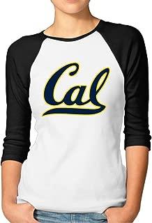 YFF Women's Berkeley Cal UCB Geek 3/4 Sleeve Raglan Tees