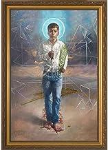 Catholic to the Max | St. Jose Sanchez del Rio by René Martínez Valadez - Standard Dark Framed Art Reproduction Print Unde...