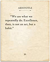Aristotle - We Are What We Repeatedly Do - 11x14 Unframed Typography Book Page Print - Great Gift for Book Lovers, Also Makes a Great Gift Under $15