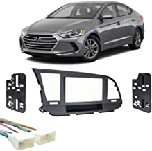 Compatible with Hyundai Elantra 2017-2018 Double DIN Stereo Harness Radio Install Dash Kit