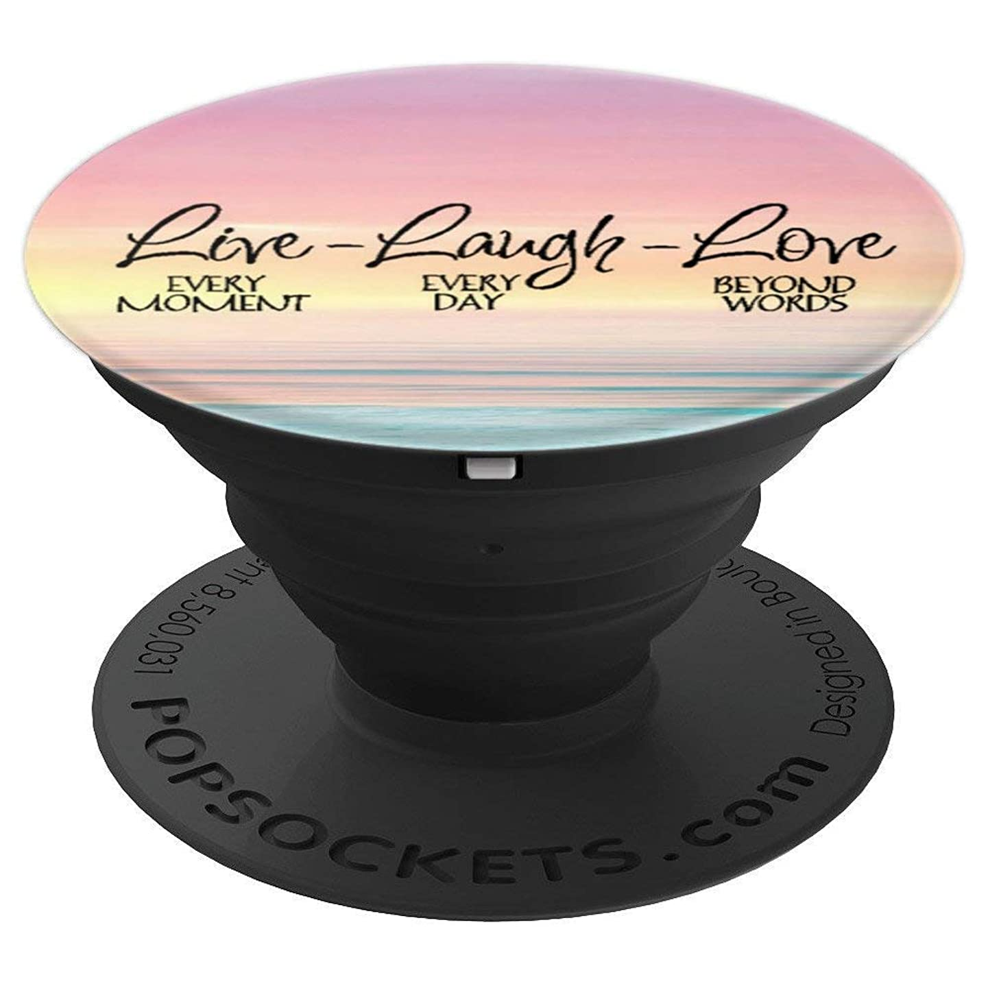 Live Laugh Love Pop Socket Phone Mount Holder - PopSockets Grip and Stand for Phones and Tablets