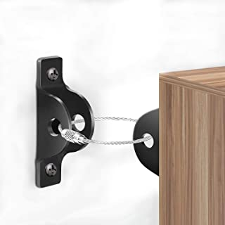 Furniture Anchors for Baby Proofing,(4 Packs) Anti-tip Wall Anchor Kit Metal, Earthquake Tip Resistant Furniture Brackets,...