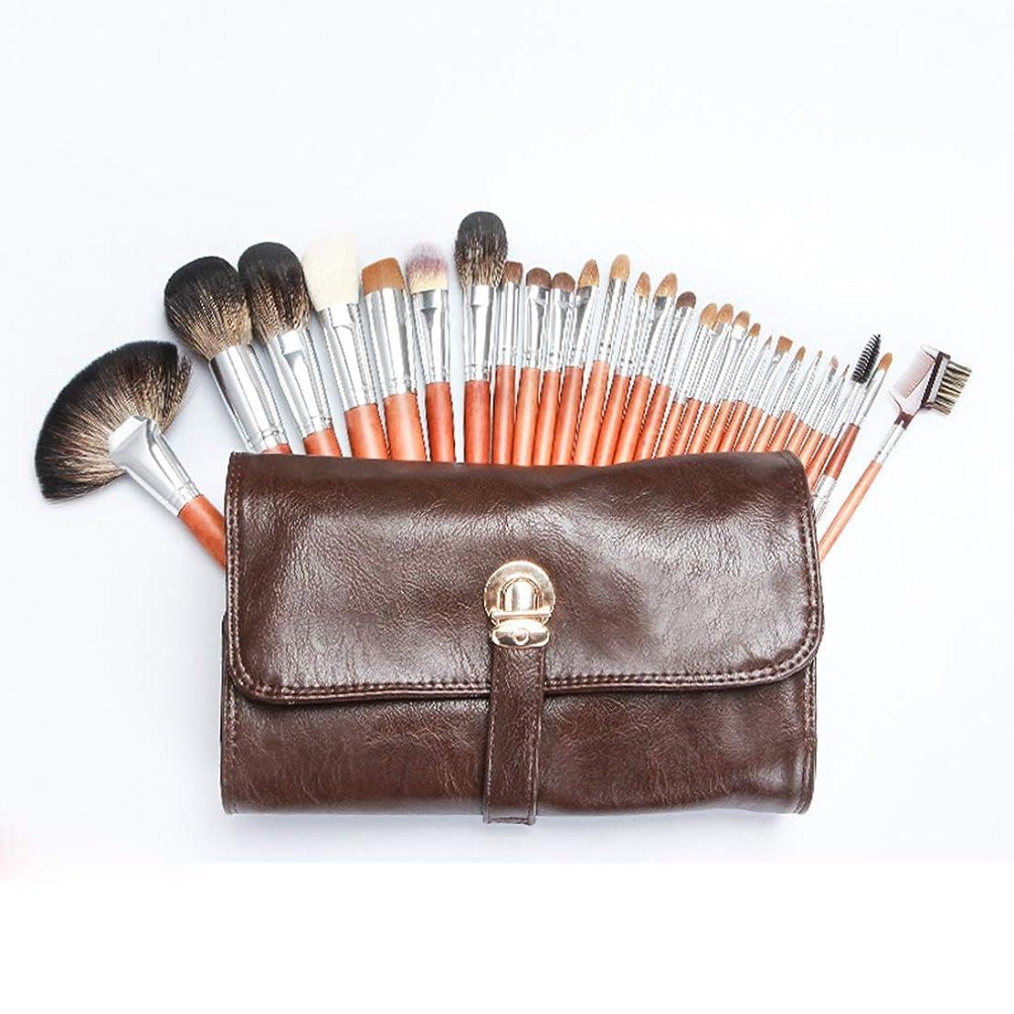 ストレンジャー人種アッティカスMengY オオカミのヘアブラシセット調節可能な化粧道具 (色 : 28-piece)