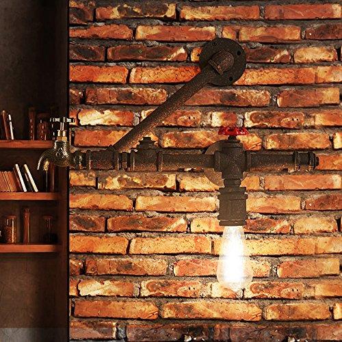 Ganeep Faucet waterpijp wandlamp loft creatieve wandlamp retro restaurant bar wandlamp industriële wind lamp van smeedijzer hoge kwaliteit lichaam eenvoudig te vervangen E27 lamphouder