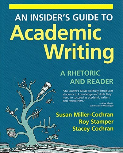 i.e. an INSIDER'S Guide to Academic Writing