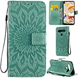 DodoBuy LG K61 Funda Flip Cover Wallet Case Carcasa Cubierta Piel PU Billetera Soporte Plegable con Tarjetero para LG K61 - Verde