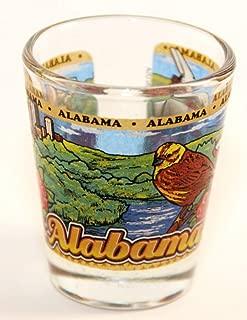 Alabama State Wraparound Shot Glass