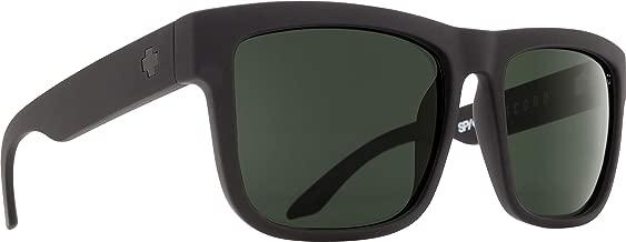 Spy Optic Discord Flat Sunglasses, Soft Matte Black/Happy Gray/Green, 57 mm