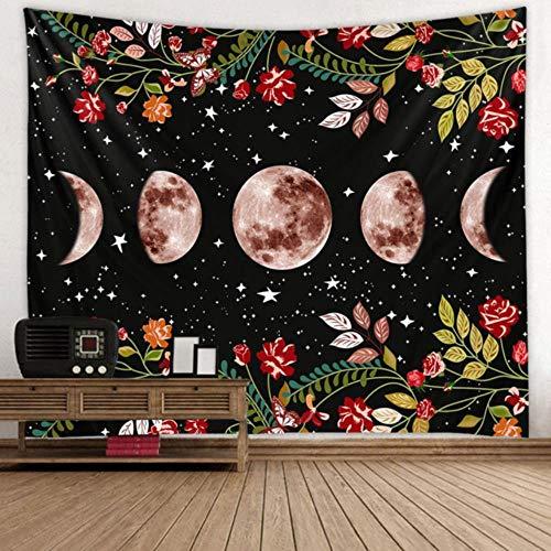 Manta de decoración para el hogar de artista de pared de tapiz de jardín psicodélico retro