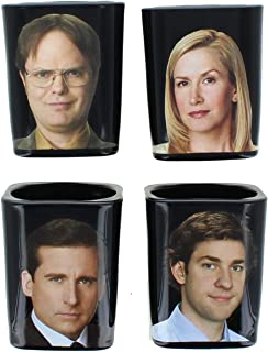 JUST FUNKY The Office Character Shot Glass Set of 4