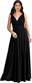 KOH KOH Womens Long Sleeveless Flowy Bridesmaid Cocktail...