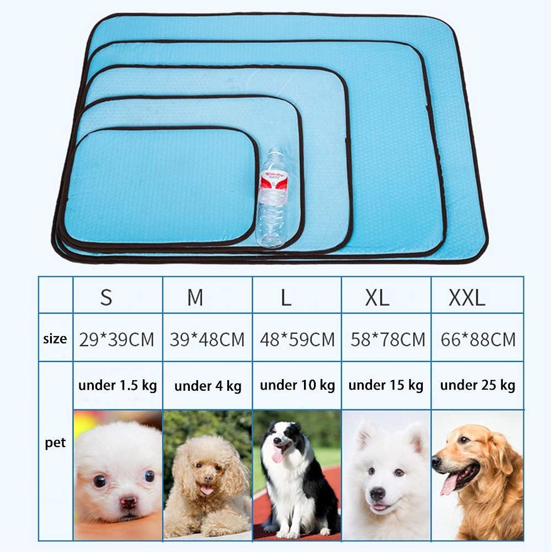 Self Cooling Pet Cat Cool Mat, Dog Accessories per aiutare il tuo Pet Stay Cool, Evita il surriscaldamento, Ideale per la casa *Trave,XXL