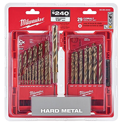 Milwaukee Electric Tools 48-89-2332 29Pc Cobalt Helix Drill Bit Set, Red
