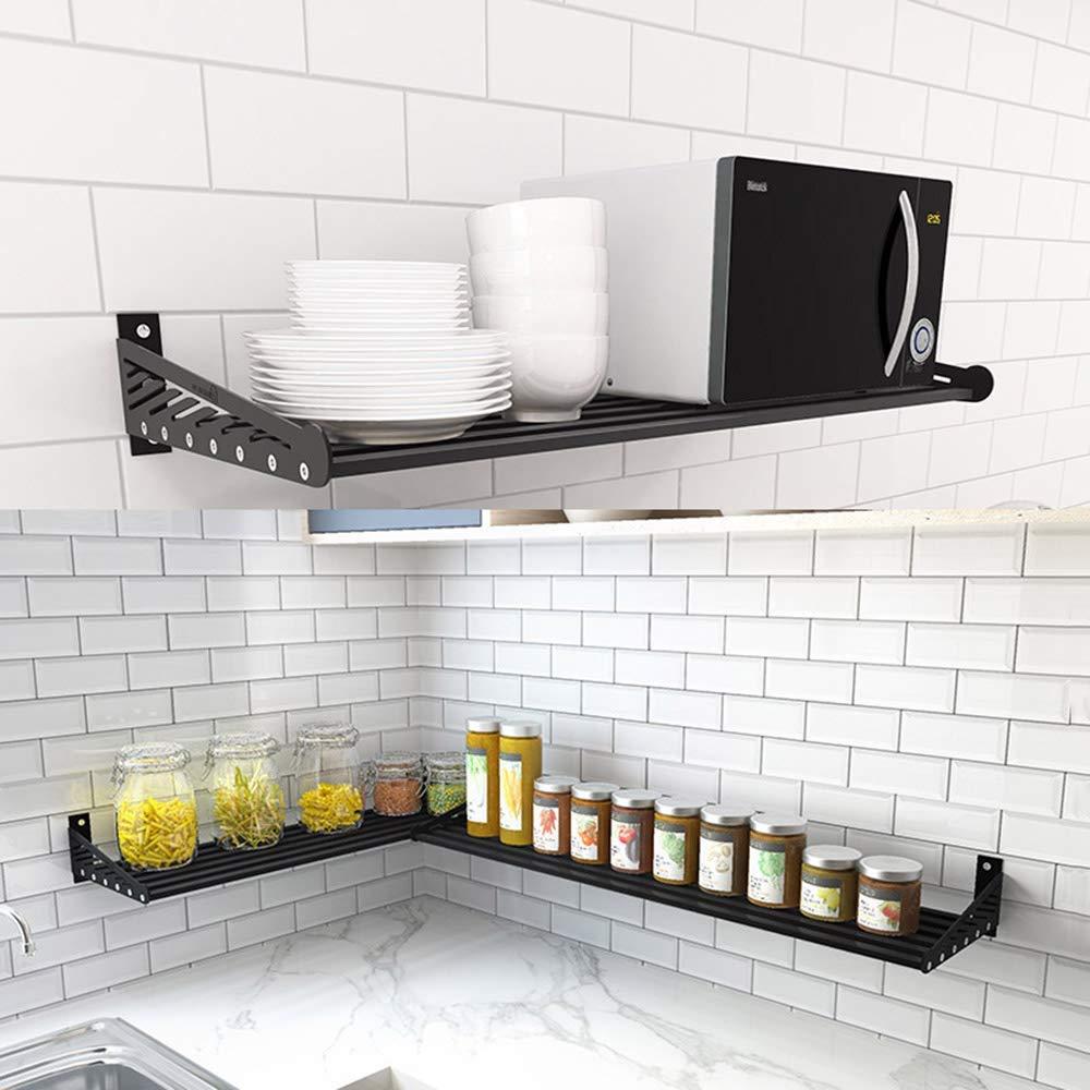 Bjia Estante de cocina de acero inoxidable Rack de horno de microondas montado en la pared Rack de especias Rack de almacenamiento de una sola capa,100 * 36 cm: Amazon.es: Bricolaje y