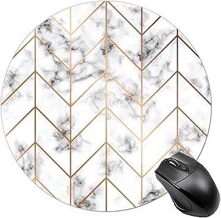 پد موس ، BYBART پد موس ، نوار مرمر سیاه و سفید دور میز لاستیک بدون لغزش Mousepad لوازم جانبی برای دفتر