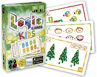 BRAIN GAMES Logic Cards Kids - Math Brain Teaser Card Game for Children Age 6+ - Award Winning Family Fun!