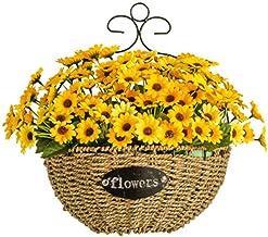 Hanging Planter Basket Hanging Flowers, Living Room Flower Basket Container Hanging Bouquet Indoor Decoration Wall Hanging Flower Basket (A)