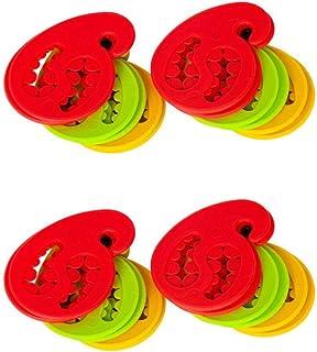 Gravidus Pojemnik na skarpety – 24 sztuki, czerwony, żółty, zielony mieszany – uchwyt na skarpety, spinka do skarpet, klam...