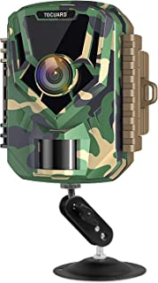 """TOGUARD Mini Trail Camera FHD 1080P 12MP Game Camera 2"""" LCD Screen Small Hunting Trap Camera with IR Night Vision 120° Wide Angle Waterproof Video Camera for Wildlife Monitoring and Home Observation"""