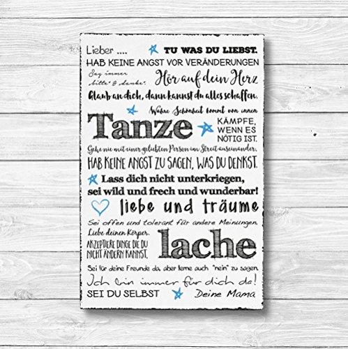 Für meinen Sohn Individualisiert - Dekoschild Wandschild Holz Deko Wand Schild 20x30cm Holzdeko Holzbild Geschenk Mitbringsel Geburtstag