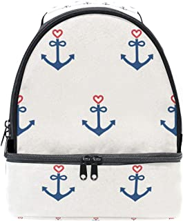 Mydaily Kids Lunch Box Anchor with Heart Reusable Insulated School Lunch Tote Bag