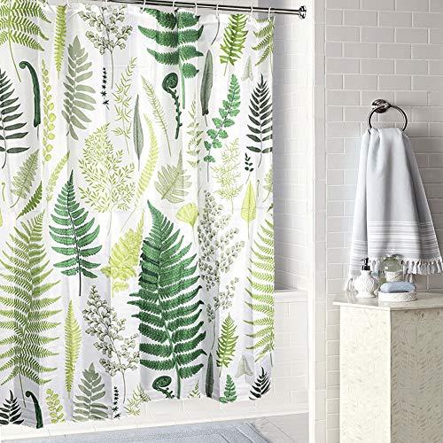 JOTOM Duschvorhang Tropisch Jungle Pflanze Badezimmer Vorhänge Wasserdicht Anti-Schimmel Grün blätter Muster 180cmx180cm (Grünes Blatt 4)
