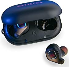 Aiwa - Prodigy Air - True Wireless Earbuds - Bluetooth 5.0-32Hr Playtime with Rechargeable Case - Pairs Instantly - IPX5 Water Resistant - Built in Mic - HD Sound