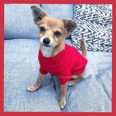 PRETTY PAMPERED PETS XXXS XXS XS Small Chihuahua Clothes Clothing Red Teacup Puppy Dog Coat Dog Jumper Small Puppy Dog Coat FAST UK SELLER EXTRA XXS XS SMALL (xxs)