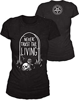 Blackcraft Cult Never Trust The Living Gothic Occult Fashion Women's Black Cotton T-Shirt