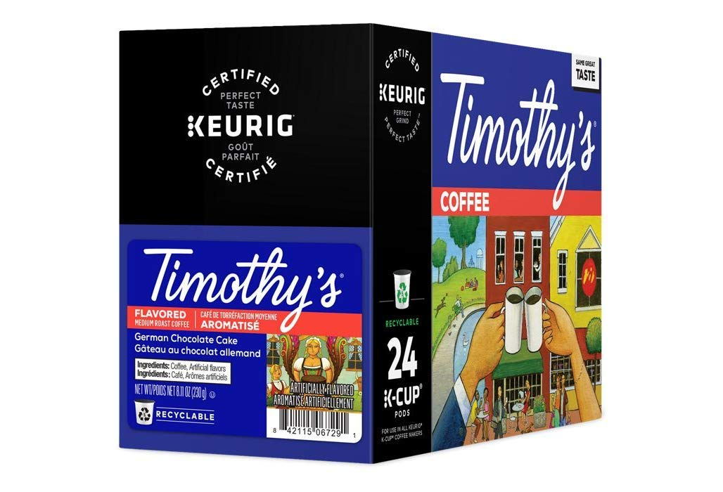 Timothy's German Chocolate Clearance Chicago Mall SALE Limited time Cake Flavored Boxes Coffee of 24 5