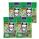 ライオン (LION) お茶でニオイをとる砂 猫砂 7L×4個 (ケース販売)