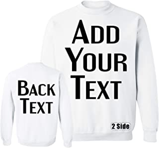 Men Women Custom Crewneck Sweatshirts, Add Your Text, Team Name Number