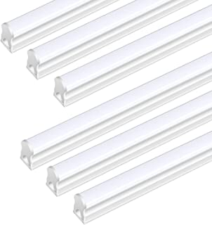 (Pack of 6) DIKAIDA T5 Fluorescent Bulbs, 20W Fluorescent Lights for Shops, 2000Lm Integrated Single Fixture, 4ft Linkable Shop Light for Garage, Basement Light Fixtures with Eyes Care