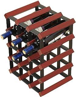 ZHTY Casiers à vin Armoire en Bois Naturel en Acier et en Bois sur Pied sur Table Rangement pour Armoire à vin Étagère à v...