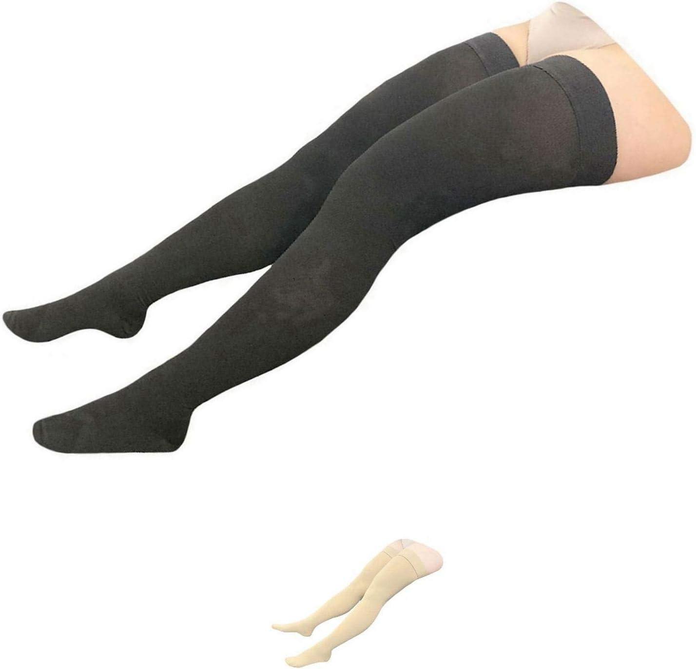 HealthyNees Thigh Closed Toe 開店記念セール 20-30 Pl Compression mmHg Wide 買収 Calf