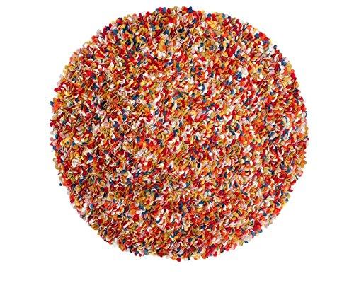 Sukhi Araav: Redonda: 90cm a 200cm alfombras de Lana de Fieltro Multi Online Colores de la India Pinocho Ronda, Venta de separación (90cm / 2' 11'')